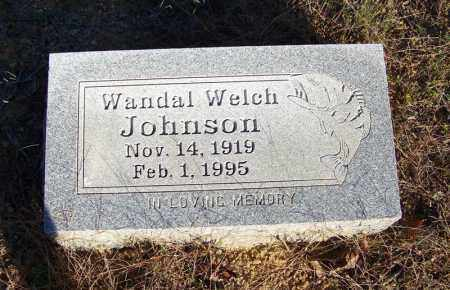 WELCH JOHNSON, WANDAL - Faulkner County, Arkansas | WANDAL WELCH JOHNSON - Arkansas Gravestone Photos