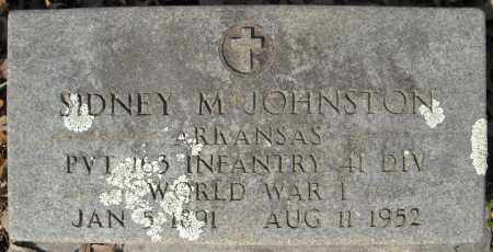 JOHNSTON (VETERAN WWI), SIDNEY M - Faulkner County, Arkansas | SIDNEY M JOHNSTON (VETERAN WWI) - Arkansas Gravestone Photos