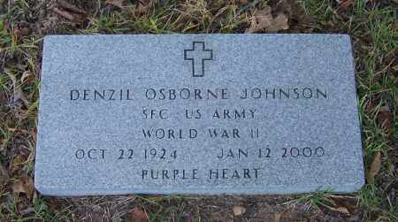JOHNSON (VETERAN WWII), DENZIL OSBORNE - Faulkner County, Arkansas | DENZIL OSBORNE JOHNSON (VETERAN WWII) - Arkansas Gravestone Photos