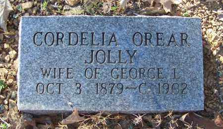 JOLLY, CORDELIA OREAR - Faulkner County, Arkansas | CORDELIA OREAR JOLLY - Arkansas Gravestone Photos
