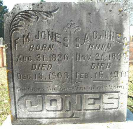 JONES, F.M. - Faulkner County, Arkansas | F.M. JONES - Arkansas Gravestone Photos