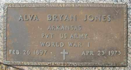 JONES (VETERAN WWI), ALVA BRYAN - Faulkner County, Arkansas | ALVA BRYAN JONES (VETERAN WWI) - Arkansas Gravestone Photos