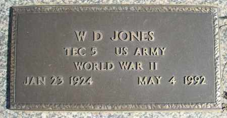 JONES (VETERAN WWII), W D - Faulkner County, Arkansas | W D JONES (VETERAN WWII) - Arkansas Gravestone Photos