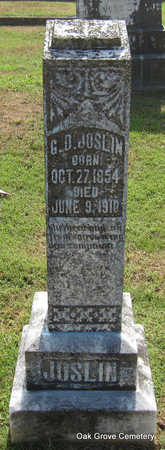 JOSLIN, GEORGE DANIEL - Faulkner County, Arkansas | GEORGE DANIEL JOSLIN - Arkansas Gravestone Photos