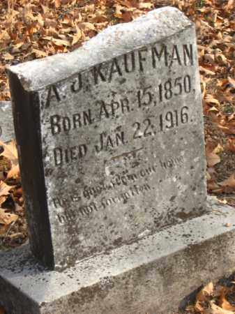 KAUFMAN, A  J - Faulkner County, Arkansas | A  J KAUFMAN - Arkansas Gravestone Photos
