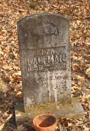 KAUFMAN, ELZA - Faulkner County, Arkansas | ELZA KAUFMAN - Arkansas Gravestone Photos