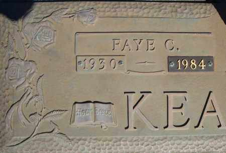 KEATHLEY, FAYE C. (CLOSE UP) - Faulkner County, Arkansas | FAYE C. (CLOSE UP) KEATHLEY - Arkansas Gravestone Photos