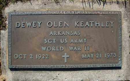 KEATHLEY (VETERAN WWII), DEWEY OLEN - Faulkner County, Arkansas | DEWEY OLEN KEATHLEY (VETERAN WWII) - Arkansas Gravestone Photos