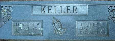 KELLER, ELIZABETH W. - Faulkner County, Arkansas | ELIZABETH W. KELLER - Arkansas Gravestone Photos