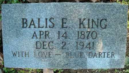 KING, BALIS E. - Faulkner County, Arkansas | BALIS E. KING - Arkansas Gravestone Photos
