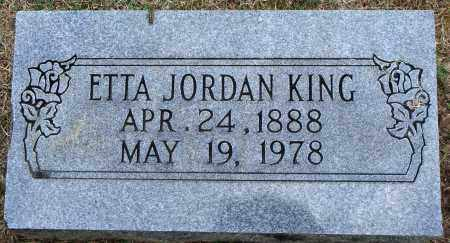 JORDAN KING, ETTA - Faulkner County, Arkansas | ETTA JORDAN KING - Arkansas Gravestone Photos