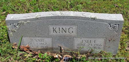 KING, JENNIE - Faulkner County, Arkansas | JENNIE KING - Arkansas Gravestone Photos