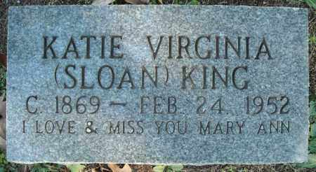 KING, KATIE VIRGINIA - Faulkner County, Arkansas | KATIE VIRGINIA KING - Arkansas Gravestone Photos