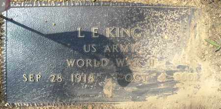 KING (VETERAN WWII), L E - Faulkner County, Arkansas | L E KING (VETERAN WWII) - Arkansas Gravestone Photos