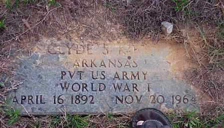 KIRBY (VETERAN WWI), CLYDE - Faulkner County, Arkansas | CLYDE KIRBY (VETERAN WWI) - Arkansas Gravestone Photos