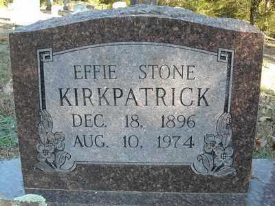 STONE KIRKPATRICK, EFFIE - Faulkner County, Arkansas | EFFIE STONE KIRKPATRICK - Arkansas Gravestone Photos