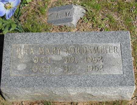 KORDSMEIER, RITA MARY - Faulkner County, Arkansas | RITA MARY KORDSMEIER - Arkansas Gravestone Photos