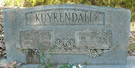 KUYKENDALL, AMOS FRANKLIN - Faulkner County, Arkansas | AMOS FRANKLIN KUYKENDALL - Arkansas Gravestone Photos