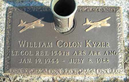 KYZER, (VETERAN), WILLIAM COLON - Faulkner County, Arkansas | WILLIAM COLON KYZER, (VETERAN) - Arkansas Gravestone Photos
