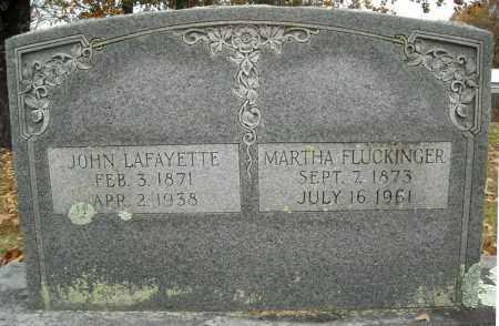 FLUCKINGER, MARTHA - Faulkner County, Arkansas | MARTHA FLUCKINGER - Arkansas Gravestone Photos