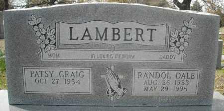 LAMBERT, RANDOL DALE - Faulkner County, Arkansas   RANDOL DALE LAMBERT - Arkansas Gravestone Photos