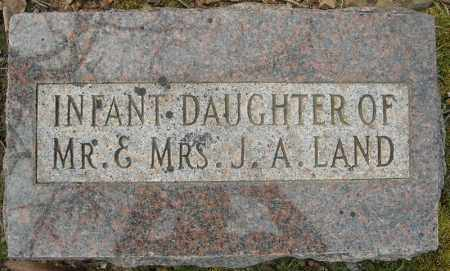 LAND, INFANT DAUGHTER - Faulkner County, Arkansas | INFANT DAUGHTER LAND - Arkansas Gravestone Photos