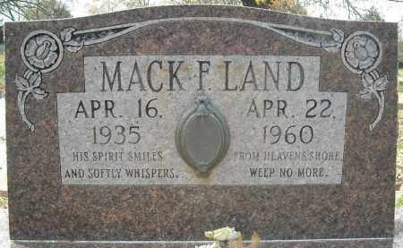 LAND, MACK F. - Faulkner County, Arkansas   MACK F. LAND - Arkansas Gravestone Photos