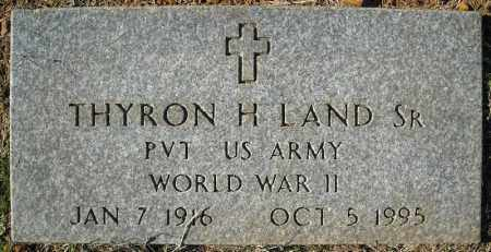 LAND, SR. (VETERAN WWII), THYRON H. - Faulkner County, Arkansas | THYRON H. LAND, SR. (VETERAN WWII) - Arkansas Gravestone Photos