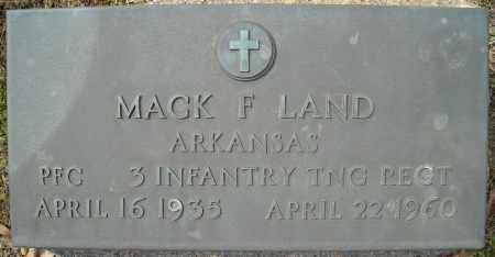 LAND (VETERAN), MACK F - Faulkner County, Arkansas | MACK F LAND (VETERAN) - Arkansas Gravestone Photos