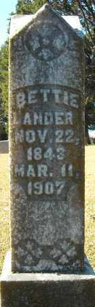 LANDER, BETTIE - Faulkner County, Arkansas | BETTIE LANDER - Arkansas Gravestone Photos