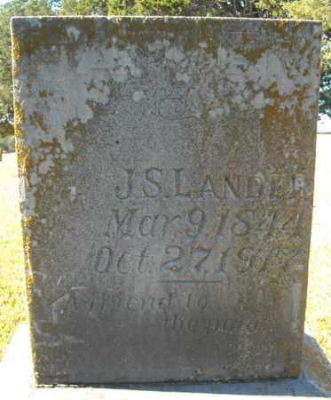 LANDER, J.S. - Faulkner County, Arkansas | J.S. LANDER - Arkansas Gravestone Photos