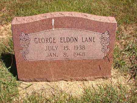 LANE, GEORGE ELDON - Faulkner County, Arkansas | GEORGE ELDON LANE - Arkansas Gravestone Photos