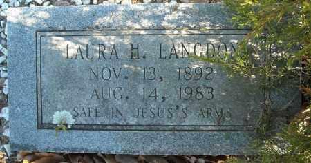 LANGDON, LAURA H. - Faulkner County, Arkansas | LAURA H. LANGDON - Arkansas Gravestone Photos