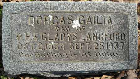 LANGFORD, DORCAS GAILIA - Faulkner County, Arkansas | DORCAS GAILIA LANGFORD - Arkansas Gravestone Photos