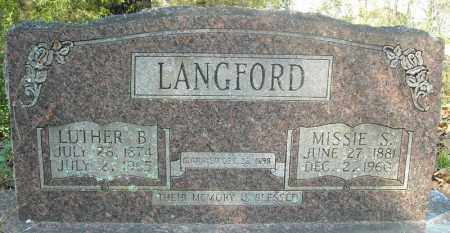 LANGFORD, LUTHER B. - Faulkner County, Arkansas | LUTHER B. LANGFORD - Arkansas Gravestone Photos