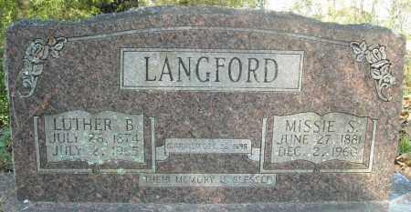 LANGFORD, LUTHER B. - Faulkner County, Arkansas   LUTHER B. LANGFORD - Arkansas Gravestone Photos