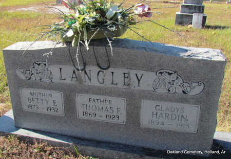 LANGLEY, THOMAS F. - Faulkner County, Arkansas | THOMAS F. LANGLEY - Arkansas Gravestone Photos