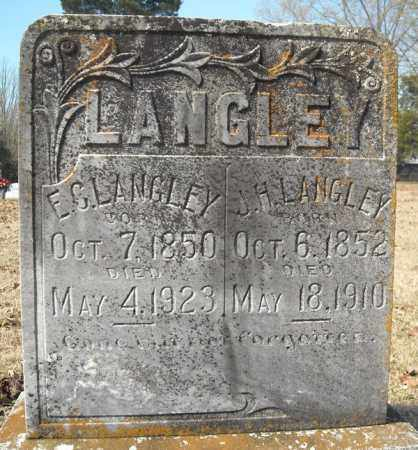 LANGLEY, E.C. - Faulkner County, Arkansas | E.C. LANGLEY - Arkansas Gravestone Photos