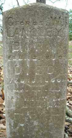 LANGLEY, GEORGE W. - Faulkner County, Arkansas | GEORGE W. LANGLEY - Arkansas Gravestone Photos