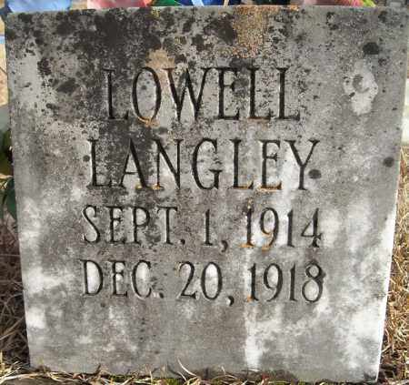 LANGLEY, LOWELL - Faulkner County, Arkansas | LOWELL LANGLEY - Arkansas Gravestone Photos