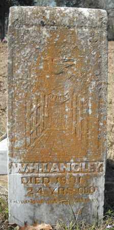 LANGLEY, W.H. - Faulkner County, Arkansas | W.H. LANGLEY - Arkansas Gravestone Photos