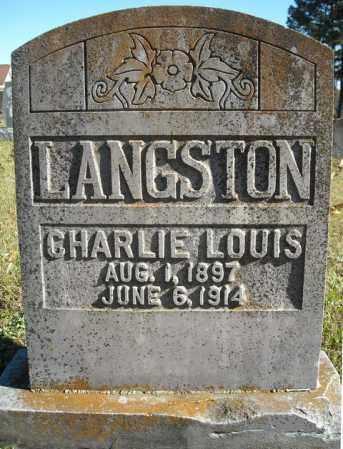 LANGSTON, CHARLIE LOUIS - Faulkner County, Arkansas | CHARLIE LOUIS LANGSTON - Arkansas Gravestone Photos