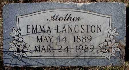 LANGSTON, EMMA - Faulkner County, Arkansas | EMMA LANGSTON - Arkansas Gravestone Photos