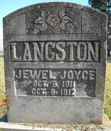 LANGSTON, JEWEL JOYCE - Faulkner County, Arkansas | JEWEL JOYCE LANGSTON - Arkansas Gravestone Photos