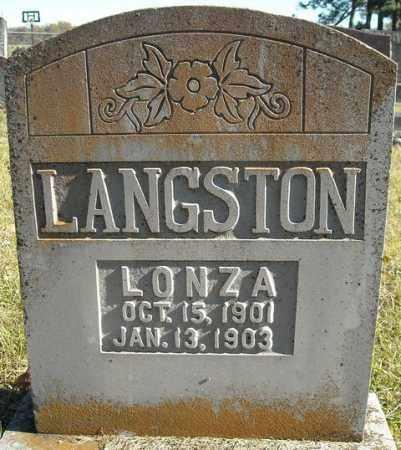 LANGSTON, LONZA - Faulkner County, Arkansas | LONZA LANGSTON - Arkansas Gravestone Photos