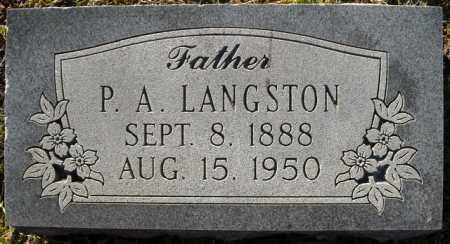 LANGSTON, P.A. - Faulkner County, Arkansas | P.A. LANGSTON - Arkansas Gravestone Photos
