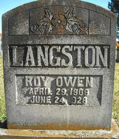 LANGSTON, ROY OWEN - Faulkner County, Arkansas | ROY OWEN LANGSTON - Arkansas Gravestone Photos