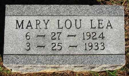 LEA, MARY LOU - Faulkner County, Arkansas | MARY LOU LEA - Arkansas Gravestone Photos