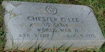 LEE (VETERAN WWII), CHESTER C - Faulkner County, Arkansas | CHESTER C LEE (VETERAN WWII) - Arkansas Gravestone Photos