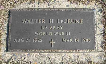 LEJEUNE (VETERAN WWII), WALTER H - Faulkner County, Arkansas | WALTER H LEJEUNE (VETERAN WWII) - Arkansas Gravestone Photos